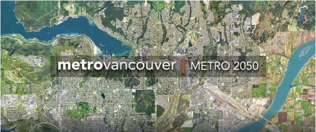 Metro Vancouver Metro 2050 map image